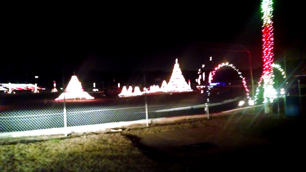 Greenville Pickens Speedway Christmas lights - YouTube