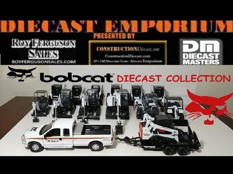 Bobcat Scale Model Collection Featuring Skid Steers, Excavator, Track Loaders, Toolcats & More!