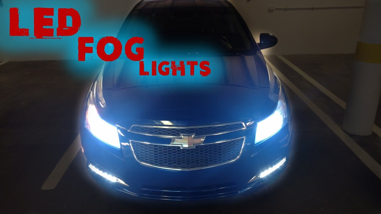 maxresdefault chevy cruze led fog lights youtube 2013 chevy cruze fog light wiring diagram at gsmx.co