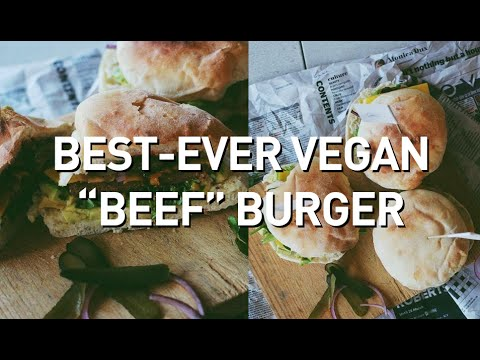 "BEST-EVER VEGAN ""BEEF"" BURGER // FAUX-MEAT FREE + SUGAR FREE"