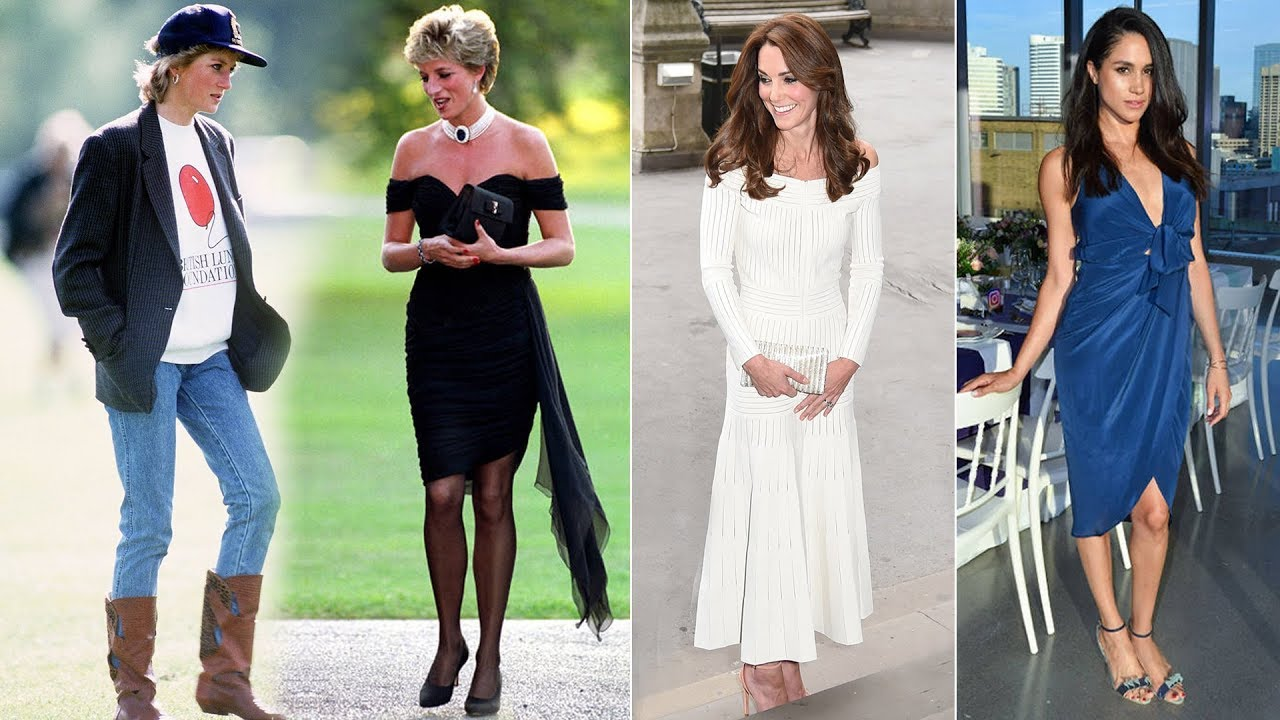 Princess Diana Kate Middleton And Meghan Markle Style
