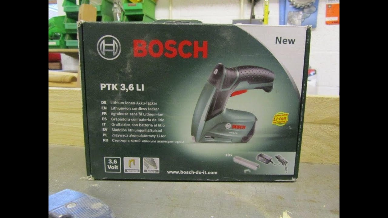 bosch ptk 3 6 li electric staplers youtube. Black Bedroom Furniture Sets. Home Design Ideas