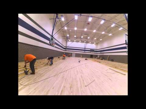 Carey High School New Auxiliary Gym Floor Install Time Lapse