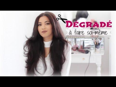 Se Couper Les Cheveux Soi Même Dégradé Effilé Youtube