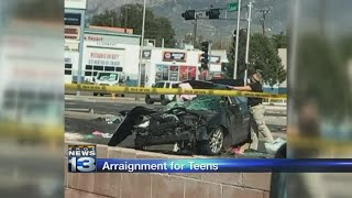 Teens involved in deadly crash appear before judge
