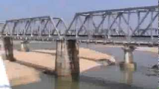 Crossing the massive Brahmani river bridge: Falaknuma Superfast on-board