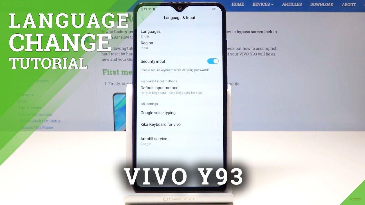 How to Set Up Language in VIVO Y93 - Language Settings
