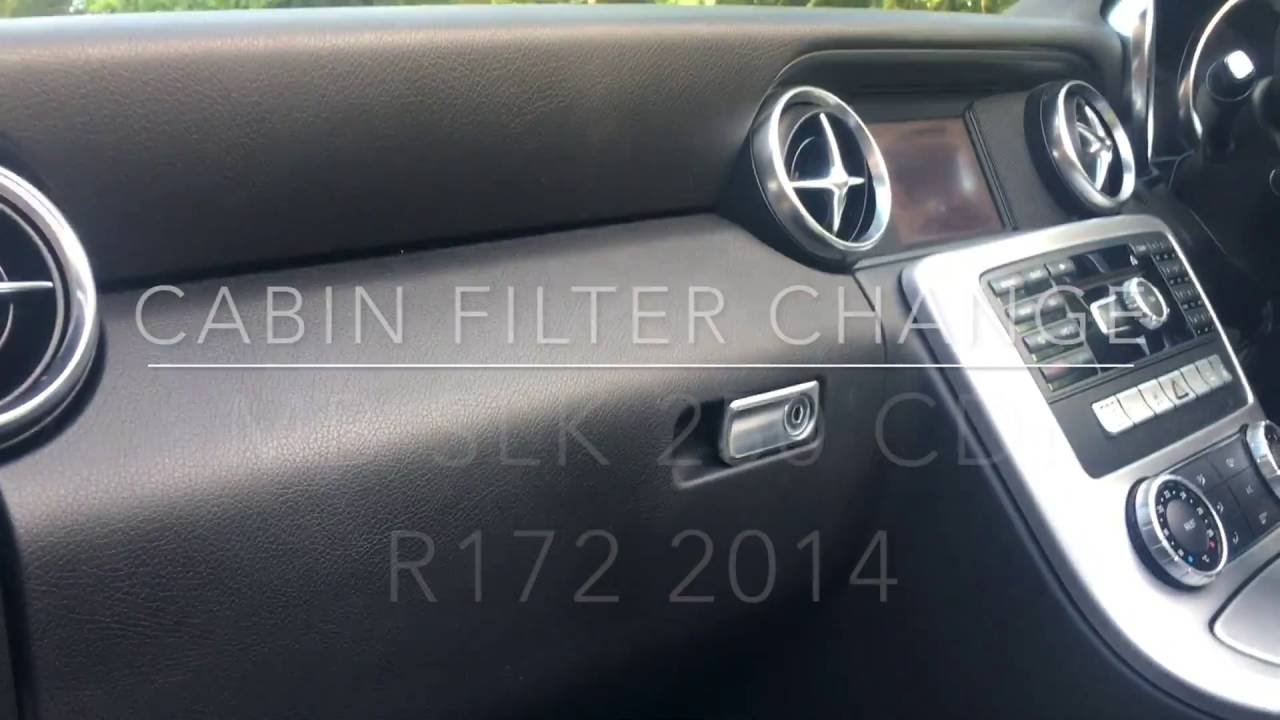 Mercedes Benz Cla >> 2014 2015 Mercedes SLK 250 CDI Cabin AIR Filter Change ...