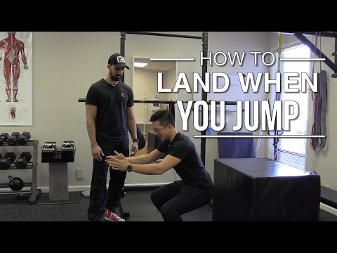 What's the right way to land when you jump?