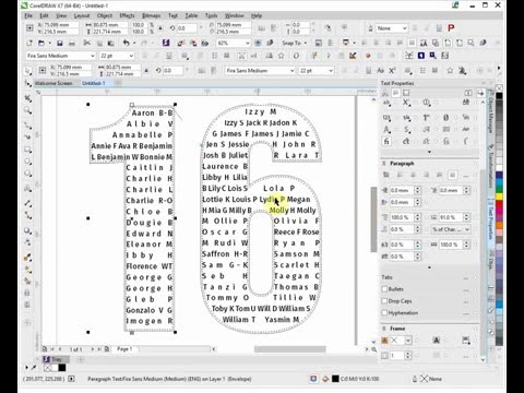 How to construct a school leavers hoody file in Corel Draw X7
