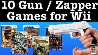 10 Wii Light GUN / Zapper Games