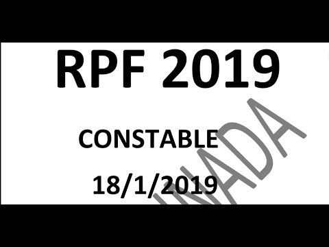 RPF CONSTABLE 18/1/2019 GENERAL KNOWLEDGE QUESTION AND ANSWERS  SBK KANNADA