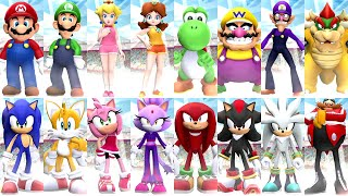 Mario and Sonic aт the London 2012 Olympic Games - All Characters