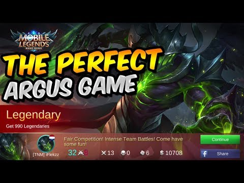 THE PERFECT ARGUS GAME! ARGUS INSANE CARRY! - MOBILE LEGENDS