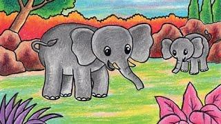 Cara Menggambar Gajah / Learn to Draw a Elephant