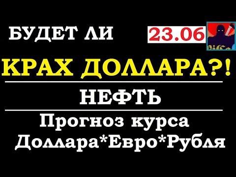 Крах доллара будет ли ?  Курс доллара  на сегодня,курс рубля, курс евро,НЕФТЬ,brent,sp500,VIX, 23.06