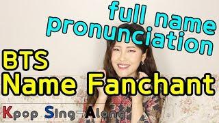 BTS Name Fanchant | full name pronunciation + tips + practice time | Kpop Sing-Along
