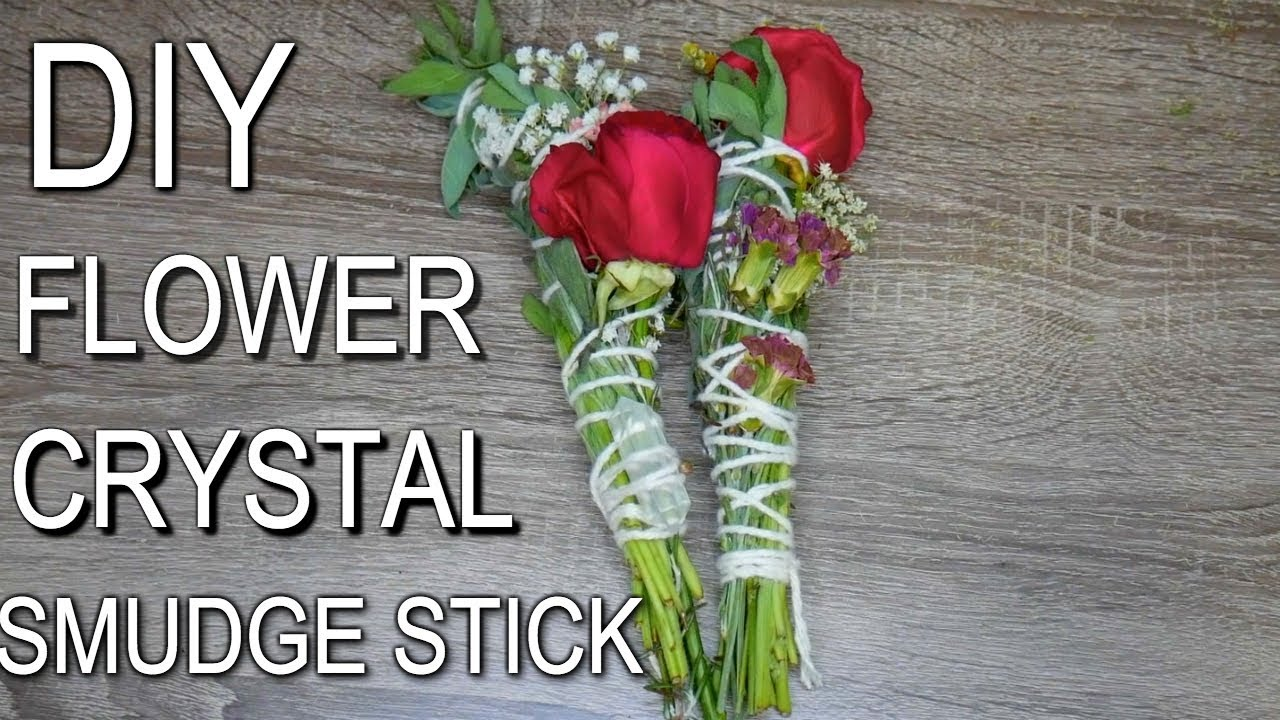 How To Make a Crystal Rose Smudge Stick