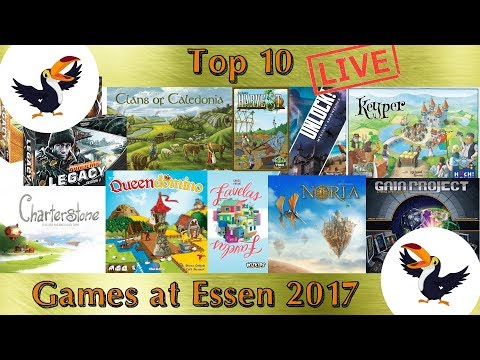 Top 10 anticipated games from Essen Spiel 2017 LIVE with Q&A