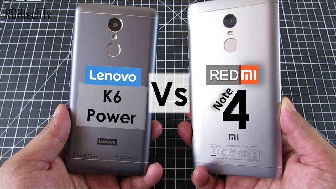 Redmi Note 4 vs Lenovo K6 power | Battery, Gaming, Design& Build, Sound,  Camera