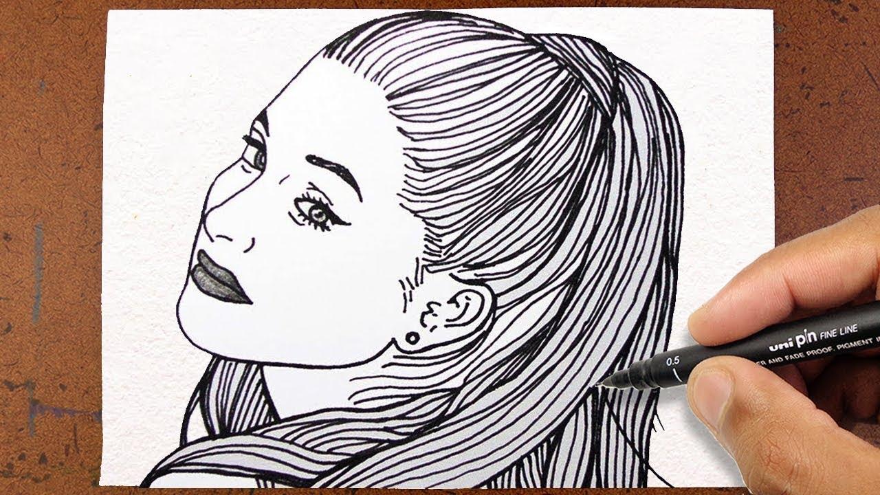 Ariana Grande Vamos Desenhar Garota Tumblr Desenhando Famosos
