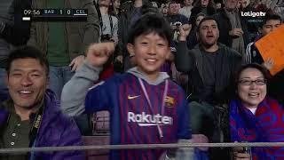 Barcelona vs Celta Vigo Dembele goal