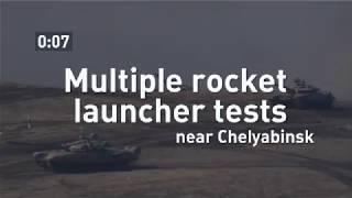 Multiple rocket louncher tests near Chelyabinsk