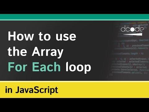 Array 'forEach' Method In Javascript (Array.prototype.forEach)