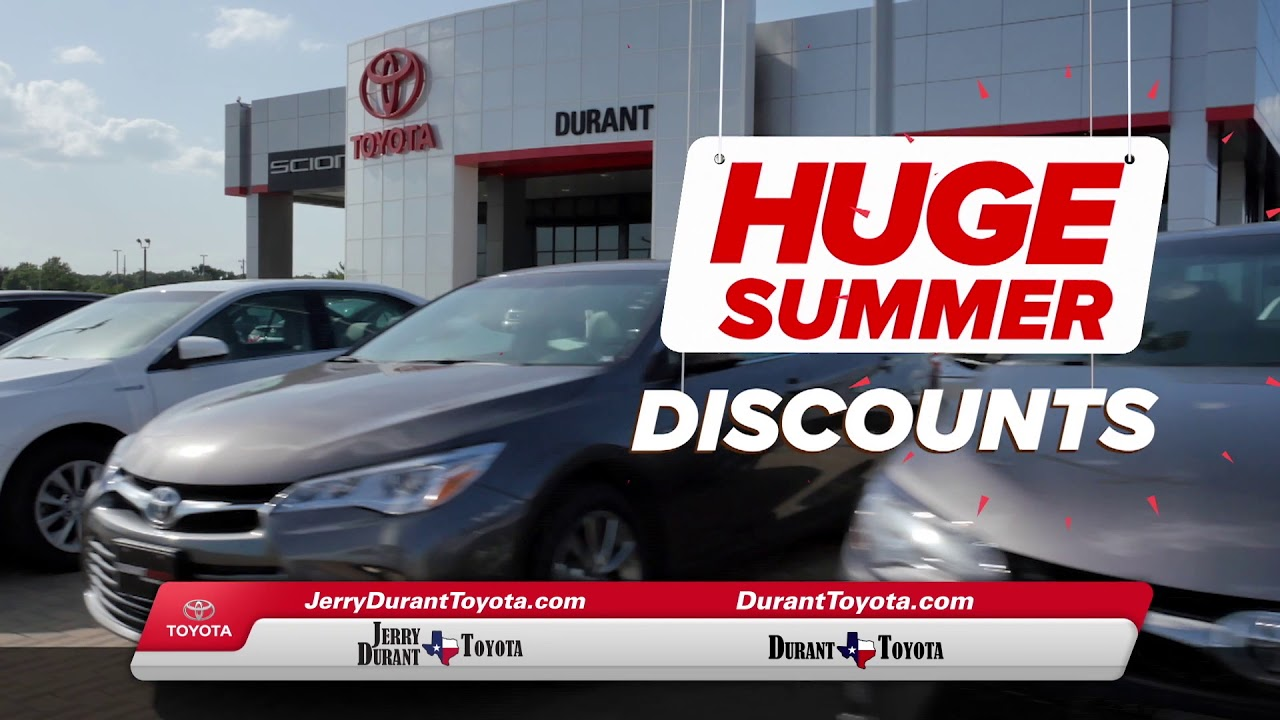 jerry durant toyota summer starts here youtube. Black Bedroom Furniture Sets. Home Design Ideas