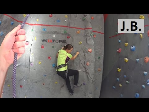 Beginner in Atmosphere climbing gym  Moscow