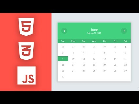 Beautiful Calendar HTML CSS JS हिंदी में