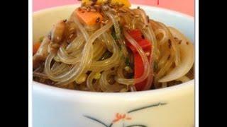 How To Make Korean Stir Fried Noodles Japchae 잡채 Recipe - Veggie Glass Noodles