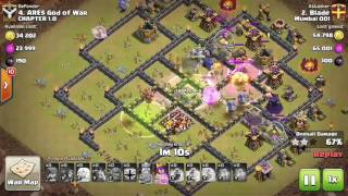 Mighty Bowlers Healer OP attack! Clash of Clans TH10 TH11
