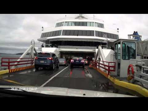 Driving on to the BC Ferry to Vancouver