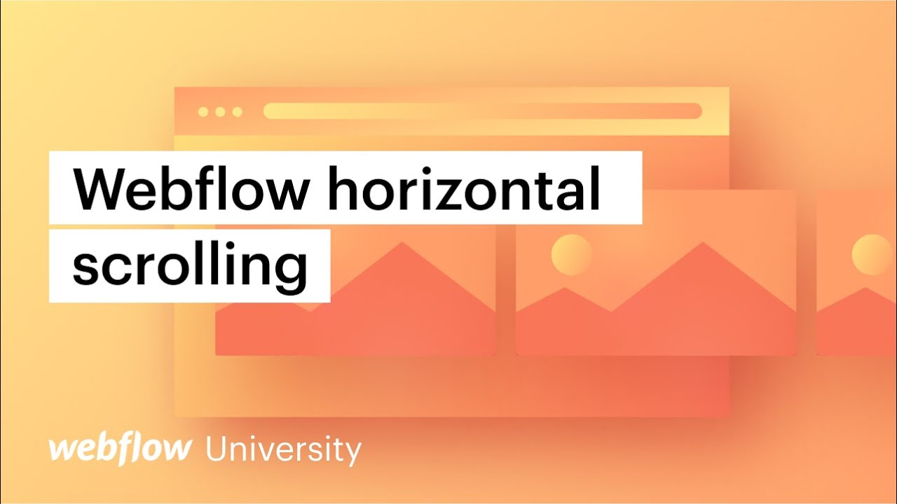 Download Advanced interactions: Horizontal scroll in Webflow