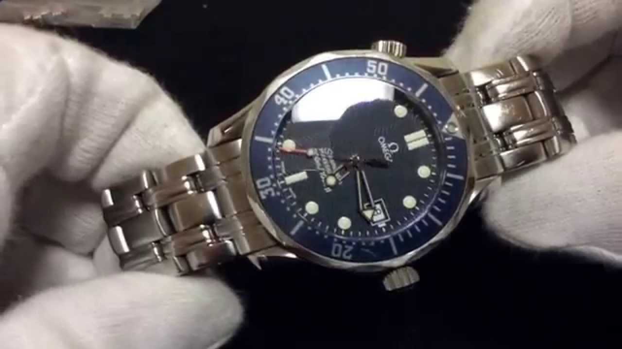 8cfa0070014 OMEGA SEAMASTER PROFESSIONAL 2561.80 Midsize Quartz JAMES BOND 300m date  blue - YouTube
