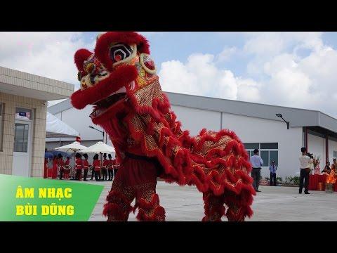 Đội Lân Sư Rồng Tại Lễ Khách Thành Nhà Máy Thực Phẩm Bình Vinh Sài Gòn