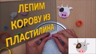 Лепим КОРОВУ из пластилина| Лепка животных из пластилина