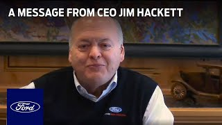 homepage tile video photo for A Message from Ford CEO Jim Hackett | Ford