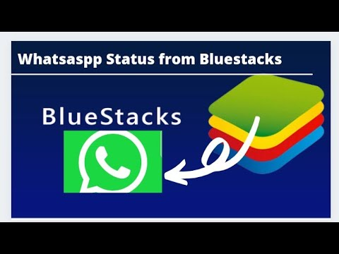 how to send or post whatsapp stetus from bluestack