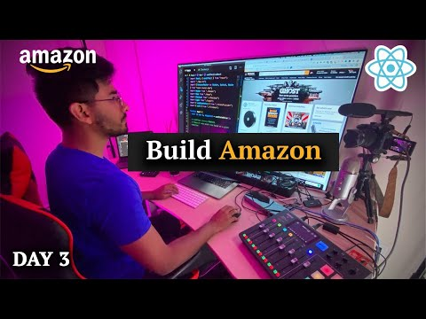 🔴Build Amazon Clone w/ Full E-Commerce + Stripe using React JS for Beginners (Challenge Day 3)