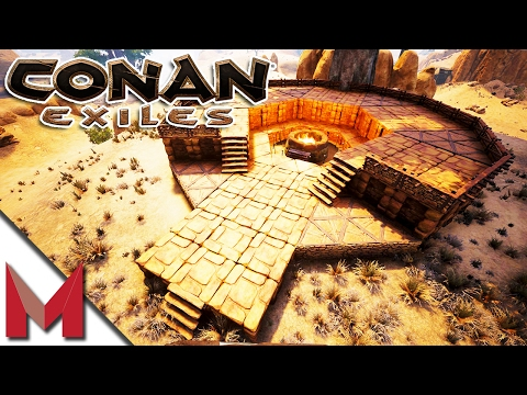 PIT OF YOG TEMPLE BUILD w/ SL1PG8R -=- CONAN EXILES GAMEPLAY -=- Ep6