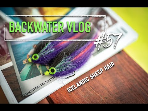 Tying A Golden Dorado Fly With ICELANDIC SHEEP HAIR: BACKWATER VLOG #57