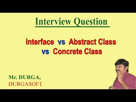 Interface vs abstract class vs concrete class