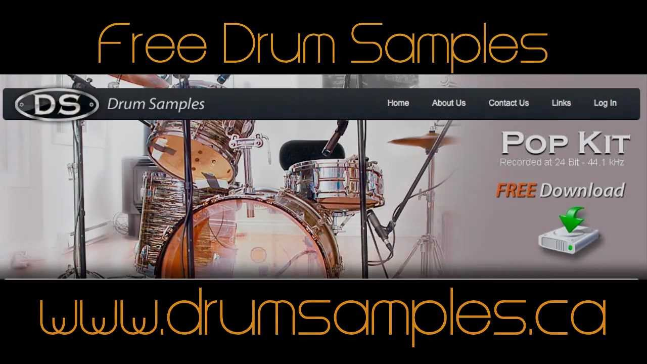 Drum Samples Download Free - Acoustic Pop & Rock Kit - YouTube