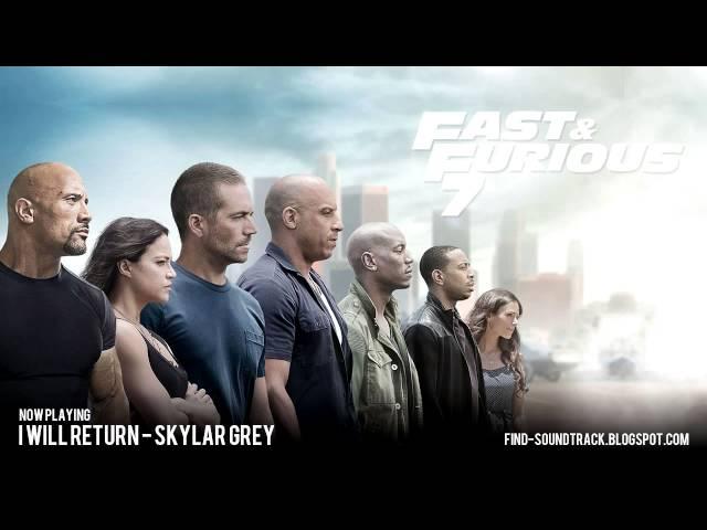 Furious 7 - Soundtrack #11 ( Skylar Grey - I will return )