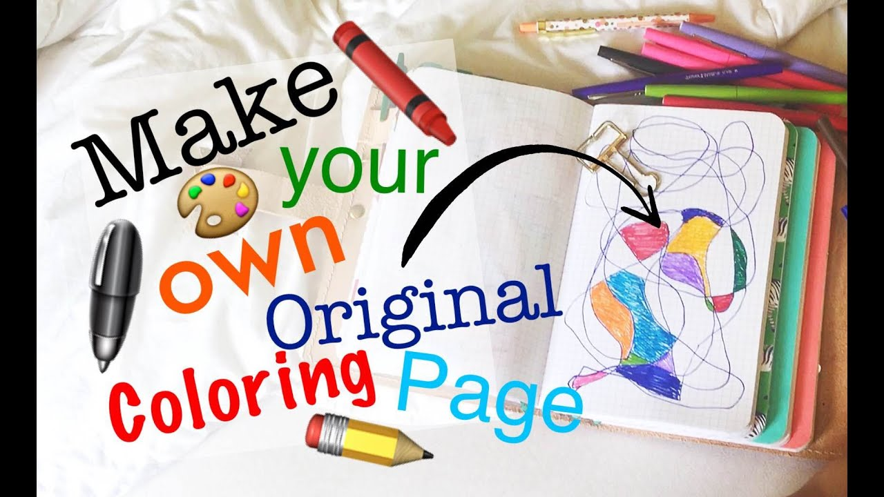 simple diy to make your own original coloring page in your planner