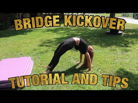 TEACHING MY BROTHER A BRIDGE KICKOVER // TUTORIAL AND TIPS thumbnail