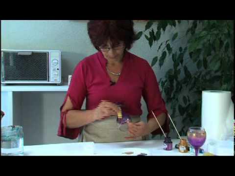 p b o peinture sur verre vitr a 160 techniques de peinture avec une ponge youtube. Black Bedroom Furniture Sets. Home Design Ideas
