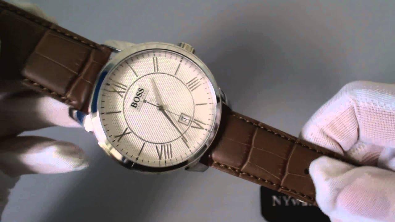 6895b6741 Men's Brown Hugo Boss Classico Dress Watch 1512973 - YouTube